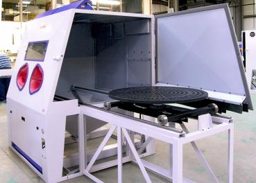 Cabina de chorreado Euroblast, mesa de carga lateral
